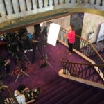 Production shoot on the mezzanine level